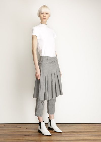 Comme des Garcons COMME Pleated Skirt Pant (Grey)