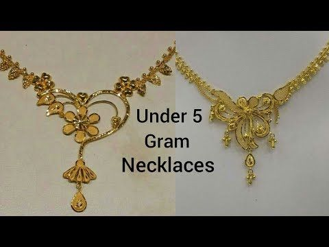 Latest Light Weight Gold Necklace Designs Gold Necklace For Women Under 10 Grams Gold Necklace Designs Gold Jewellery Design Necklaces Gold Necklace Wedding