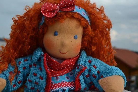* . + . * + Merle * . + . * + von Hermis Puppenstube  - ♥ -  Puppenmachen ist Herzenssache - ♥ - Stoffpuppen zum Liebhaben gemacht ! auf DaWanda.com