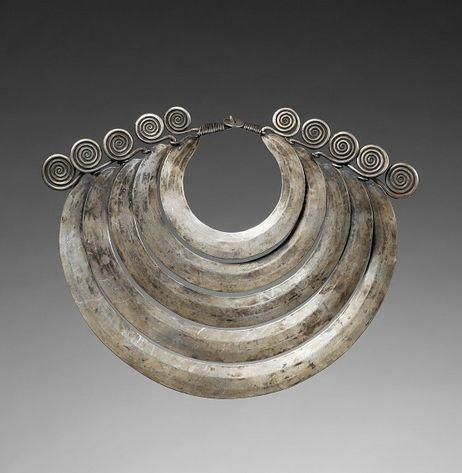 China | Dong Silver Necklace.  Guizhou province.