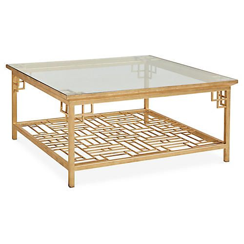 Larkspur Coffee Table Antiqued Gold Coffee Table Luxury Coffee