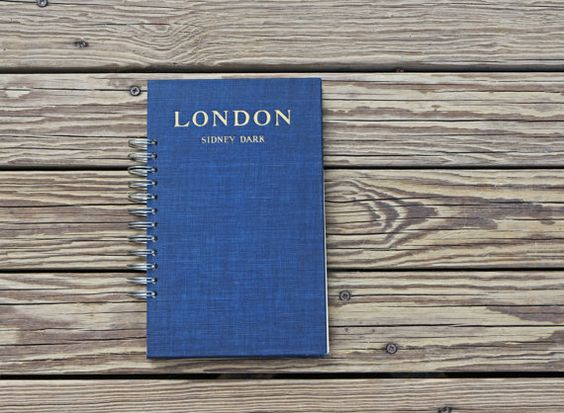 travel journal -  London - unlined journal diary blank notebook sketchbook