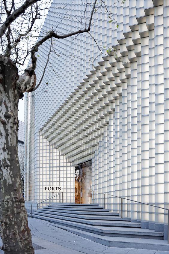 Uufie develops 3D glass façade for ports 1961's flagship Shanghai store - Retailand Retail Design