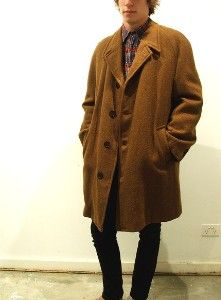 Vintage 1940's Men's Long Tweed Coat | Number the Stars
