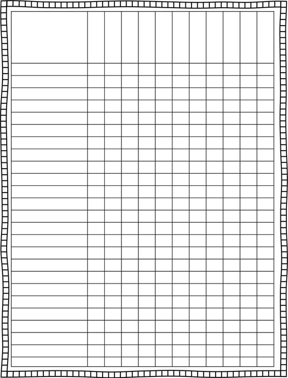 Elementary Class List Template Monthly planning pages- A - graph paper template print