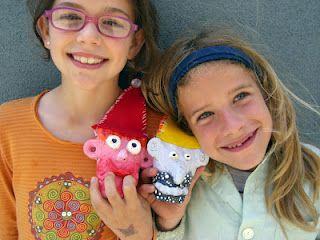 Kids create fantastic characters via Fem Manuals.
