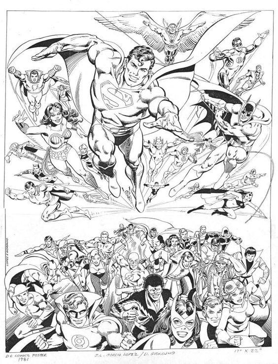 DC Super Heroes poster by José Luis García-López