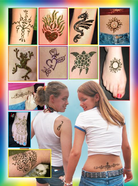 HENNA Tattoos - beautiful & romantic are an ancient art dating back thousands of years. Your freehand, one-of-a-kind henna tattoo with striking designs lend an exotic flavor to your event. We have a full selection of contemporary designs along with the ancient Indian floral, leaf, and geometric motifs.