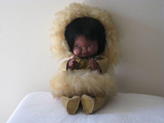 1960's vintage Eskimo/Inuit Doll