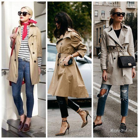 Уличная мода: Какой тренч носить весной 2018