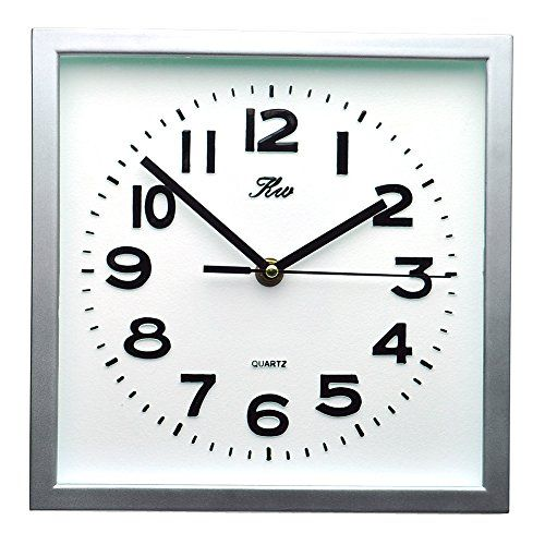 Modern Non Ticking Silent Quartz Analog Digital Square Wall Clock Check Out The Image By Visiting The Link This Square Wall Clock Wall Clock Modern Clock