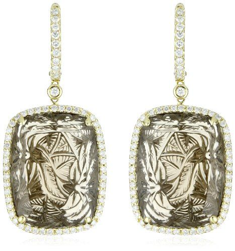 Dana Rebecca Designs Allison Joy Carved Smoky Quartz #jewels #gemstones