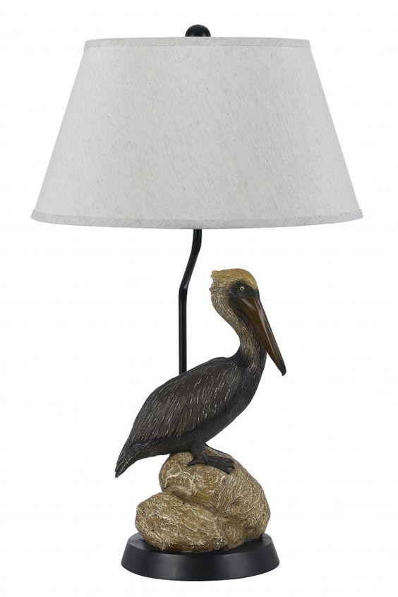 PELICAN 1 Light Table Lamp #pelican #graceandfrankie
