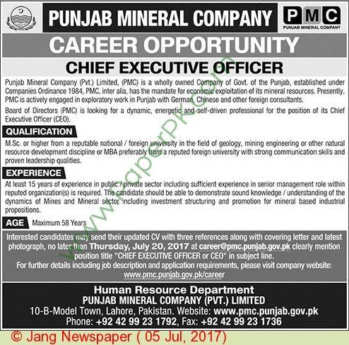 Speical Court Pakistan Jobs u003du003du003du003du003d - u003e -u003e -u003e Posted on 5 July - chief executive officer job description
