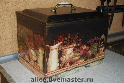 """хлебница """"Цветы парижа"""" - декор для интерьера,для дома,для кухни,хлебница"""