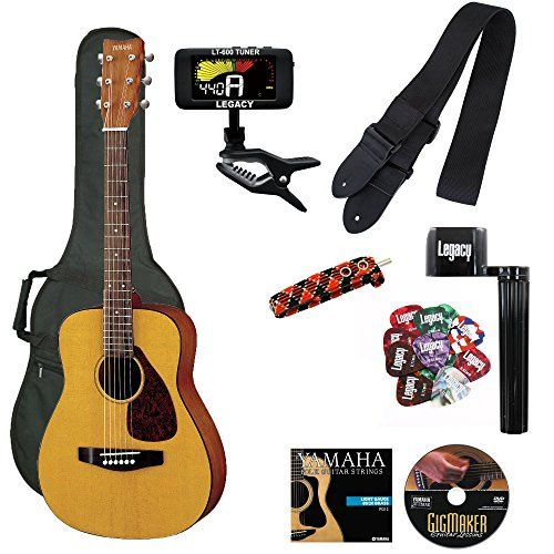 Yamaha Jr1 3 4 Size Acoustic Guitar With Gig Bag And Legacy Accessory Bundle Acoustic Guitar Accessories Kids Acoustic Guitar Yamaha Guitar