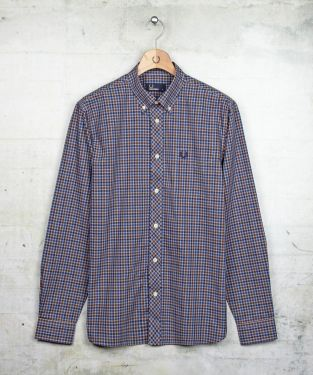 Fred Perry Check Shirt in Steel Marl      Fred Perry