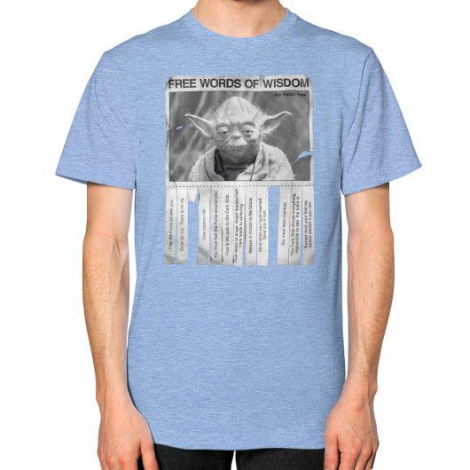 Yoda's Words of Wisdom Unisex T-Shirt (on man)