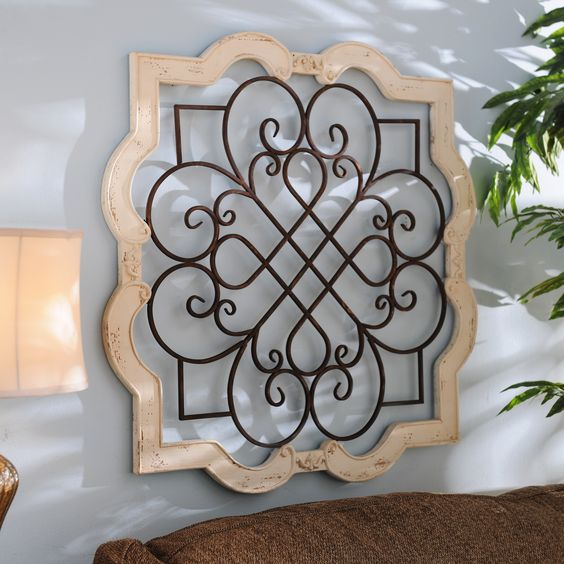 Antique Cream Wood Metal Wall Decor: Beautiful, Hallways And The O'jays