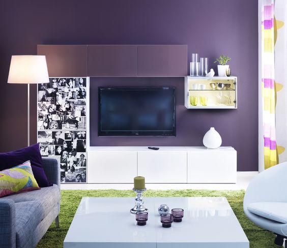 ikea wohnzimmer besta:IKEA Österreich, Inspiration, Wohnzimmer, Wandschrank BESTÅ