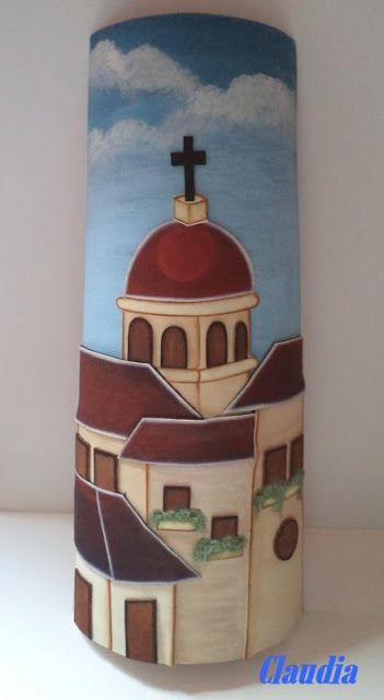 Lindas manualidades teja decorada con foamy tejas - Pintura para tejas ...
