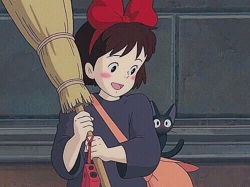 ジブリのmさん On Instagram 79 私 魔女のキキです こっちは黒猫のジジ ジジ真っ赤になってるのまた可愛い 久々に見たら楽すぃ 魔女の宅急便 ジブリ イラスト Caho イラスト ジブリ