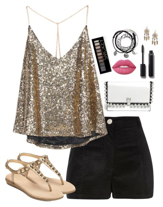 """""""This night is sparklin"""" by lovelywonderstruck13 ❤ liked on Polyvore featuring River Island, Aerosoles, Proenza Schouler, Forever 21, Chanel, Boohoo and Lime Crime"""