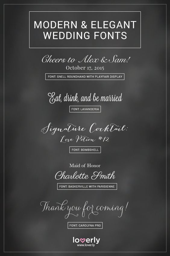 Modern and Elegant Fonts used on Wedding Invitations – Beautiful Fonts for Wedding Invitations
