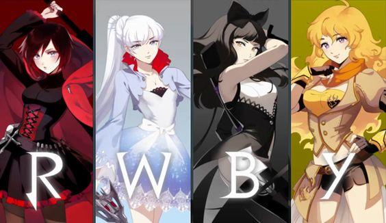 De izquierda a derecha, tenemos a Ruby (Caperucita rojo), Weiss (Blancanieves), Blake (La bella y la bestia) y Yang (Ricitos de oro). O nuestras amigas