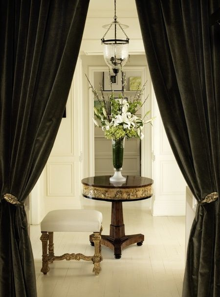 Green Curtains black green curtains : DESIGN DICTIONARY: Portiere | Green, Dark and Antiques