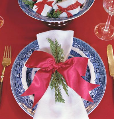 A simple sprig can spruce up a table setting