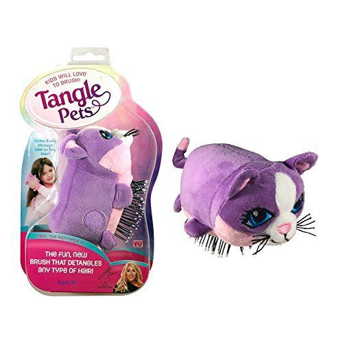 Tangle Pets Introduced To The World By Lori Greiner On The Tv Show Shark Tank With Both Parents In Kids Detangling Hair Brush Hair Detangler Detangling Brush