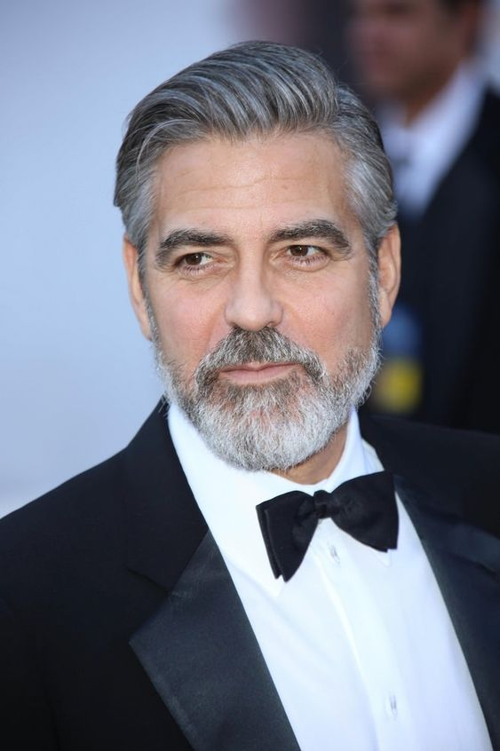 Surprising Embracing Gray Mens Hairstyle How To George Clooney Rocks This Short Hairstyles For Black Women Fulllsitofus