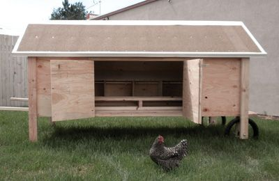 Coops chicken coops and the chicken on pinterest for How to build a movable chicken coop