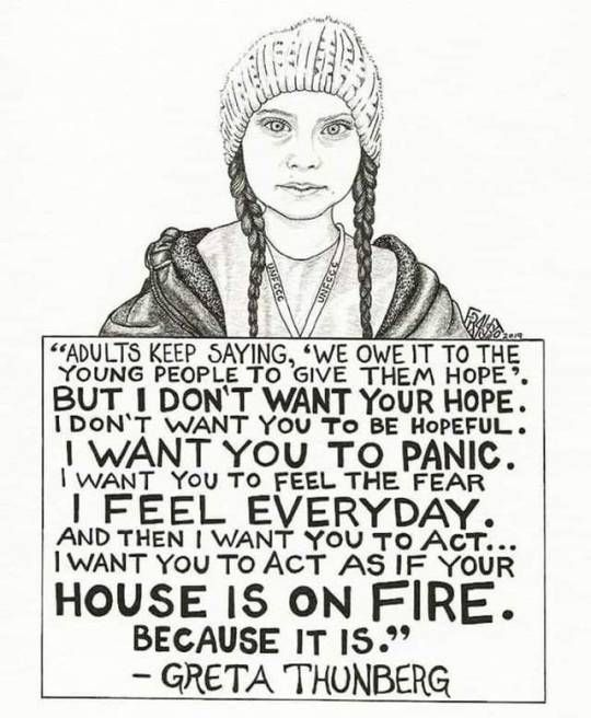 quote greta thunberg house on fire - Google Search | Quotes, Words, Protest  signs