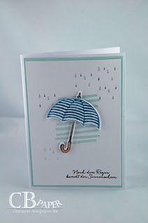 Umbrella; rain; partial background stamp; clean and simple