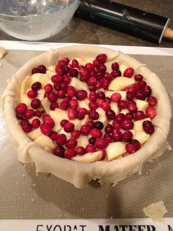 Best Apple Cranberry Pie recipe - easy to make & delicious