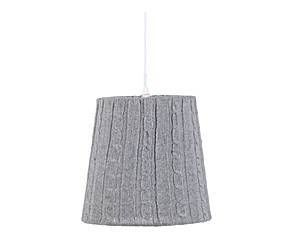 Suspension Laine, Gris - H25
