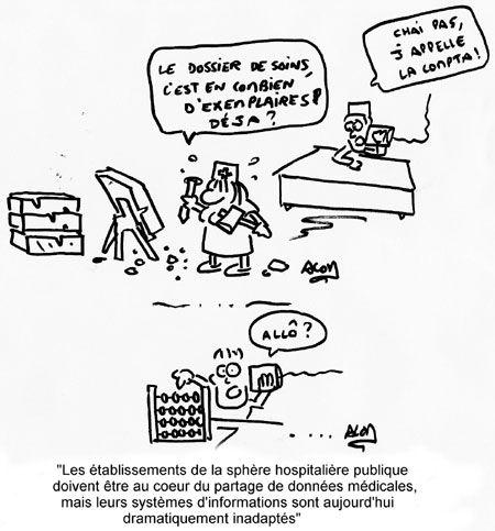 Système d'informations, Humour, Dessin, Illustration, Hôpital