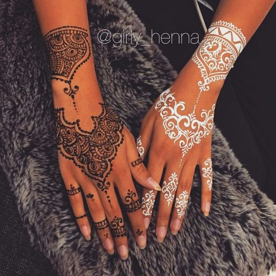 Tbt Black Or White     Girly__henna Booking