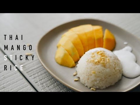 Recipe Thai Mango Sticky Rice Resep Ketan Mangga Ala Thai Youtube Mango Sticky Rice Thai Mango Sticky Rice