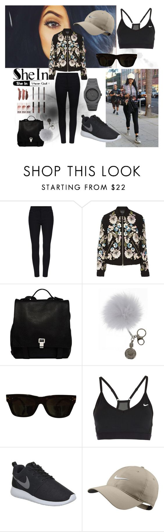 """Shein Contest"" by juliamella on Polyvore featuring Needle & Thread, Proenza Schouler, Overland Sheepskin Co., CÉLINE, NIKE, Kendall + Kylie, CC, women's clothing, women's fashion and women"