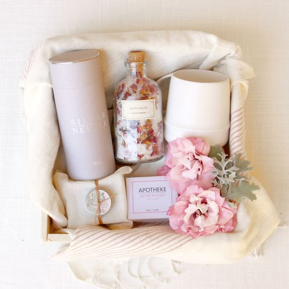 Loved and Found Relax for Her Box. Curated Spa Gift.