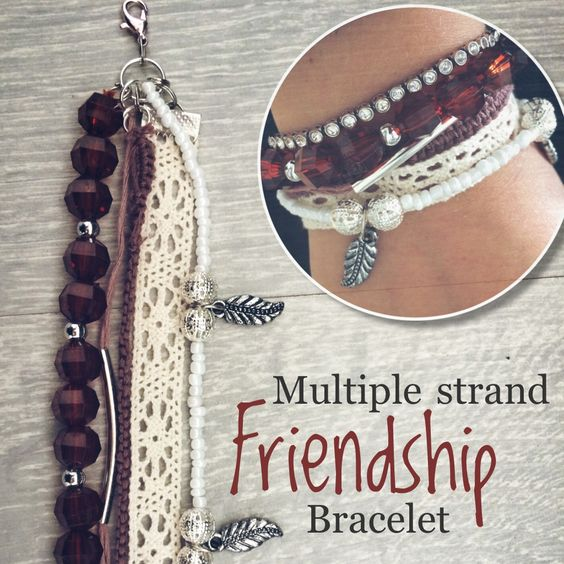 Multiple strand frienship bracelet DIY