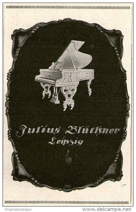 Original-Werbung/ Anzeige 1924 - FLÜGEL / JULIUS BLÜTHNER LEIPZIG  - ca. 70 x 110 mm