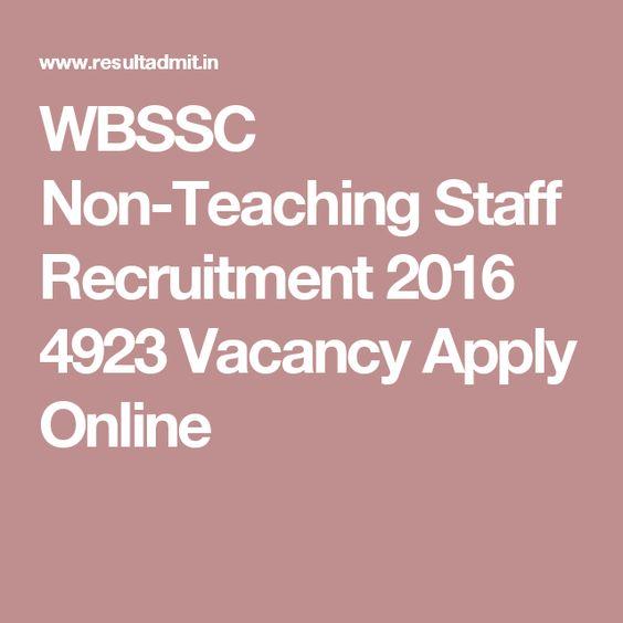 WBSSC Non-Teaching Staff Recruitment 2016 4923 Vacancy Apply Online