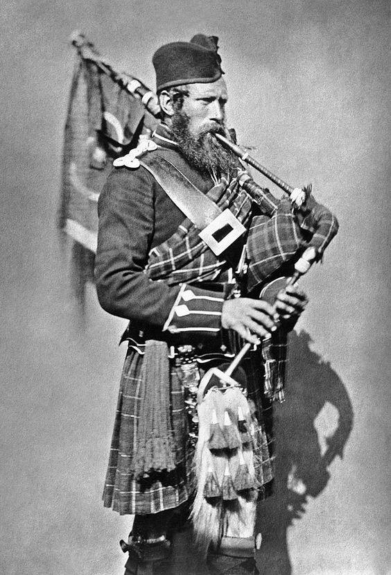 Pipe Major John MacDonald of the 72nd Highlanders, 1854