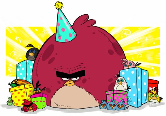Angry Birds (Toons) :  HAPPY BIRTHDAY ANGRY BIRDS by MemQ4.deviantart.com on @DeviantArt