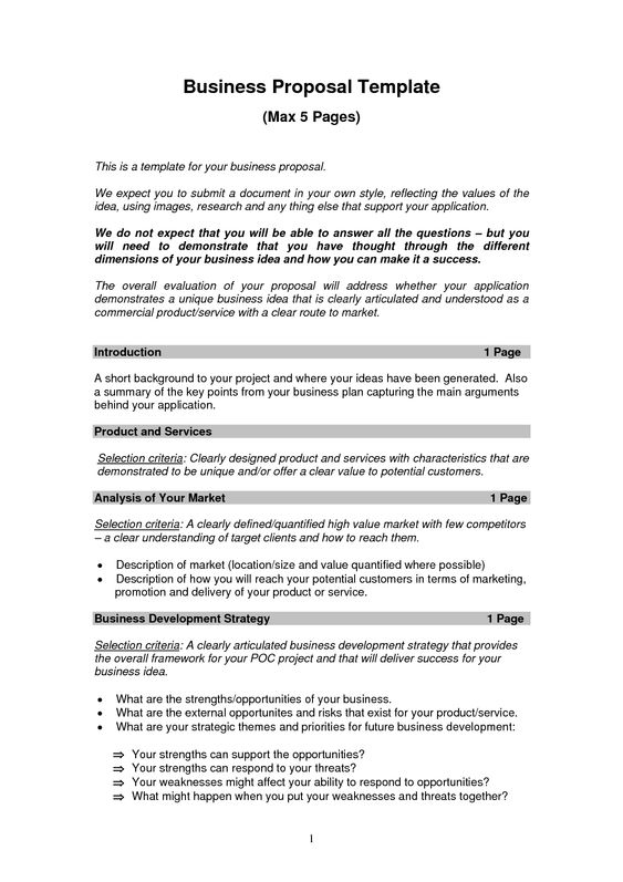 Business Proposal Templates Examples – Proposal Sample Template