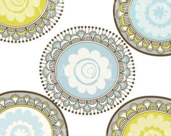 1/2 PRICE Decorative Circle Clip Art for commercial and personal use. Invites, cards, scrapbooking. (3)